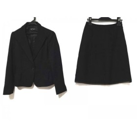 【中古】 インディビ INDIVI スカートスーツ サイズ38 M レディース 黒 ラメ