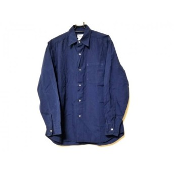 【中古】 アニエスベー agnes b 長袖シャツ サイズ2 M メンズ ネイビー