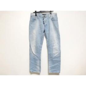 【中古】 ヌーディージーンズ NudieJeans ジーンズ サイズ33 メンズ ライトブルー ダメージ加工