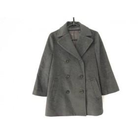 【中古】 アナイ ANAYI Pコート サイズ38 M レディース 美品 グレー 冬物/七分袖