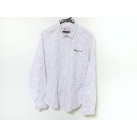 【中古】 デシグアル Desigual 長袖シャツ メンズ 美品 白 パープル