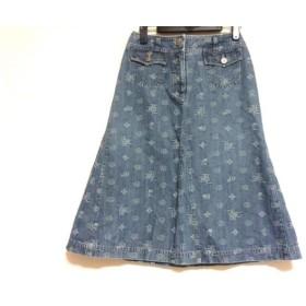 【中古】 インゲボルグ INGEBORG スカート サイズS レディース ブルー デニム/刺繍