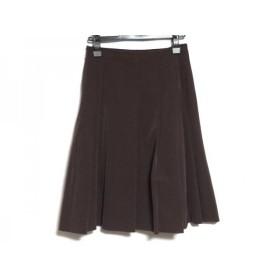 【中古】 ランバン LANVIN スカート サイズ36 S レディース 美品 ダークブラウン La Collection