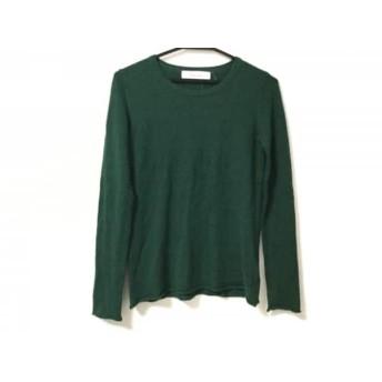 【中古】 ルシェルブルー LE CIEL BLEU 長袖セーター サイズ38 M レディース グリーン