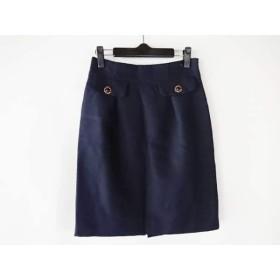 【中古】 アプワイザーリッシェ Apuweiser-riche スカート サイズ2 M レディース 美品 ネイビー