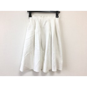 【中古】 フォクシーニューヨーク FOXEY NEW YORK スカート サイズF レディース 白