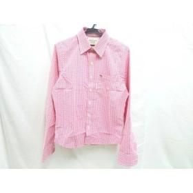 【中古】 アバクロンビーアンドフィッチ Abercrombie & Fitch 長袖シャツ サイズS メンズ ピンク ホワイト