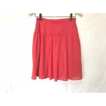 【中古】 ティアラ Tiara スカート サイズ3 L レディース レッド