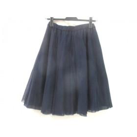 【中古】 エムプルミエ M-PREMIER スカート サイズ36 S レディース ネイビー