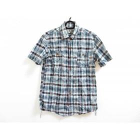 【中古】 ティーケータケオキクチ TK (TAKEOKIKUCHI) 半袖シャツ サイズ3 L メンズ 白 マルチ