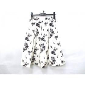 【中古】 ザ ギンザ THE GINZA スカート サイズ40 M レディース アイボリー マルチ