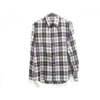 【中古】 ノーブランド 長袖シャツ サイズS メンズ ネイビー イエロー