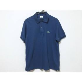 【中古】 ラコステ Lacoste 半袖ポロシャツ サイズ4 XL メンズ ネイビー
