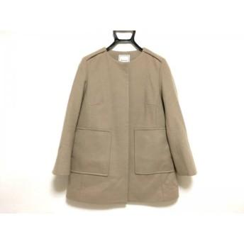 【中古】 アナトリエ anatelier コート サイズ36 S レディース 美品 ライトブラウン 冬物