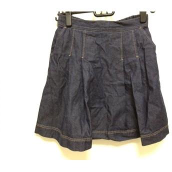 【中古】 ミュベールワーク MUVEIL WORK スカート サイズ36 S レディース ネイビー デニム