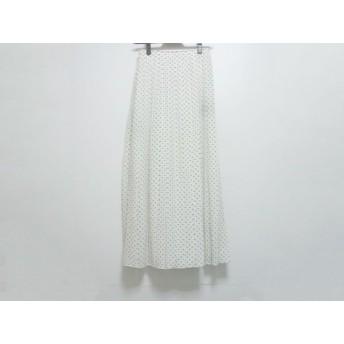 【中古】 セオリー theory スカート サイズ0 XS レディース 美品 白 黒 ドット柄