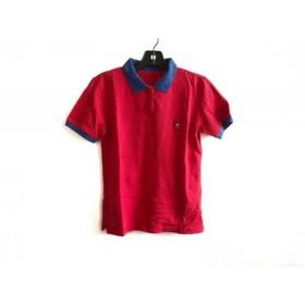 【中古】 マドモアゼルノンノン 半袖ポロシャツ サイズM レディース 美品 レッド ブルー