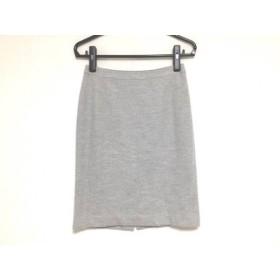 【中古】 ダブリュービー wb スカート サイズ38 M レディース ライトグレー