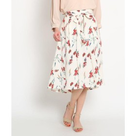 AG by aquagirl / エージー バイ アクアガール 【洗える】リボンベルト付き花柄スカート