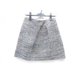 【中古】 ノーリーズ NOLLEY'S スカート サイズ38 M レディース グレー マルチ
