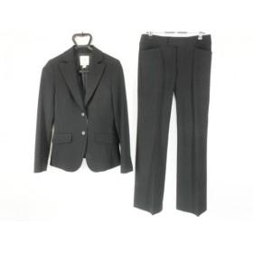 【中古】 クミキョク 組曲 KUMIKYOKU レディースパンツスーツ サイズ2 M レディース 黒