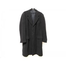 【中古】 ジョルジオアルマーニ GIORGIOARMANI コート メンズ ダークグレー 肩パッド/冬物