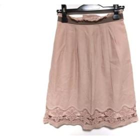 【中古】 ジャスグリッティー JUSGLITTY スカート サイズ1 S レディース ピンク ベージュ レース/刺繍