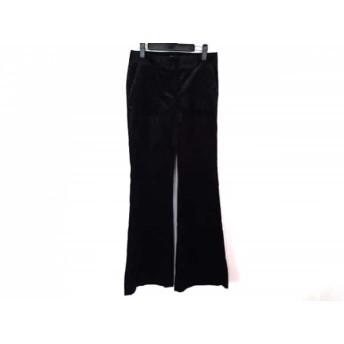 【中古】 セオリー theory パンツ サイズ2 S レディース 美品 黒 グレー ベロア/ストライプ