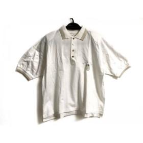 【中古】 バレンザポースポーツ 半袖ポロシャツ サイズM レディース 白 ゴールド マルチ
