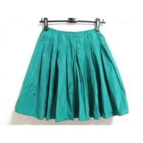 【中古】 チェスティ Chesty スカート サイズ1 S レディース グリーン
