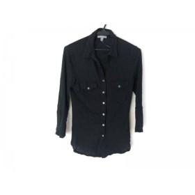 【中古】 ジェームスパース JAMES PERSE 七分袖シャツブラウス サイズ2 S レディース 黒