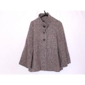 【中古】 アナイ ANAYI コート サイズ38 M レディース 美品 白 ダークグレー 冬物/ショート丈