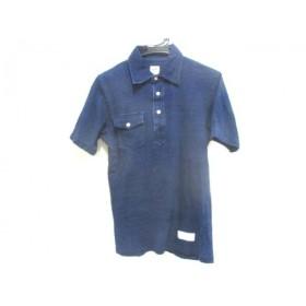 【中古】 ラギッドファクトリー RUGGED FACTORY 半袖ポロシャツ サイズS S メンズ ネイビー アイボリー