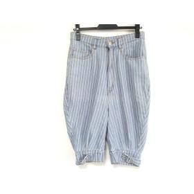 【中古】 ネネット Ne-net パンツ サイズ1 S レディース ブルー ベージュ 白 ストライプ