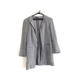 【中古】 コムサデモード COMME CA DU MODE コート サイズ9 M レディース 黒 白 春・秋物