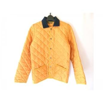 【中古】 マッキントッシュ MACKINTOSH ブルゾン サイズL レディース オレンジ 黒 キルティング/冬物