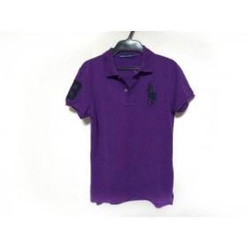 【中古】 ラルフローレン RalphLauren 半袖ポロシャツ サイズM レディース ビッグポニー パープル