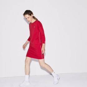 パイプドフリーステニススウェットシャツドレス