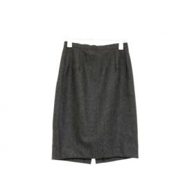 【中古】 イタリヤ 伊太利屋/GKITALIYA スカート サイズ7A2 レディース ダークグレー