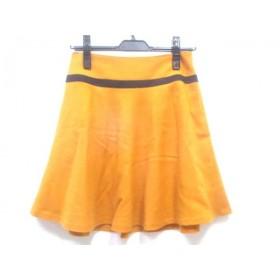 【中古】 インディビ INDIVI スカート サイズ38 M レディース イエロー ブラック