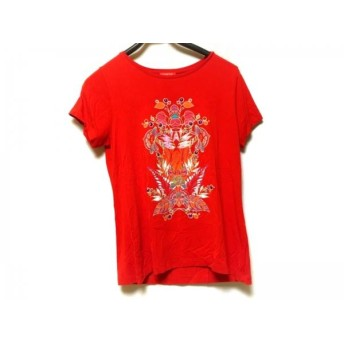 【中古】 シャコック CHACOK 半袖Tシャツ サイズL レディース レッド パープル マルチ スパンコール