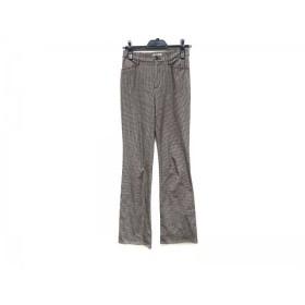 【中古】 ビースリー B3 B-THREE パンツ サイズ30 XS レディース ダークブラウン ベージュ 千鳥格子