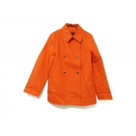 【中古】 オールドイングランド OLD ENGLAND コート サイズ36 S レディース オレンジ ショート丈/春・秋物