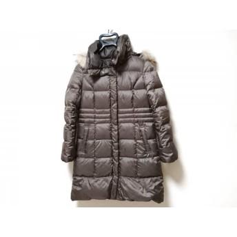 【中古】 エニシス anySiS ダウンコート サイズ2 M レディース ダークブラウン ファー/冬物