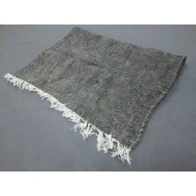 【中古】 フォグリネンワーク fog linen work ストール(ショール) 黒 白 リネン