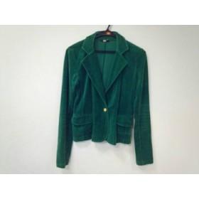 【中古】 スライ SLY ジャケット サイズ1 S レディース グリーン ベロア