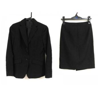 【中古】 コムサイズム COMME CA ISM スカートスーツ サイズXS レディース 黒 3点セット