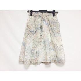 【中古】 ジャスグリッティー JUSGLITTY スカート サイズ1 S レディース ベージュ ピンク ブルー 花柄