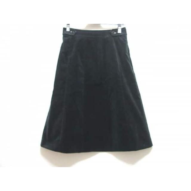 【中古】 バーバリーロンドン Burberry LONDON スカート サイズ36 M レディース 美品 黒
