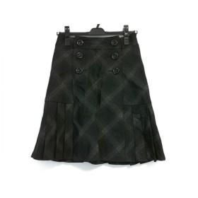 【中古】 エニシス anySiS スカート サイズ2 M レディース 黒 ダークグレー